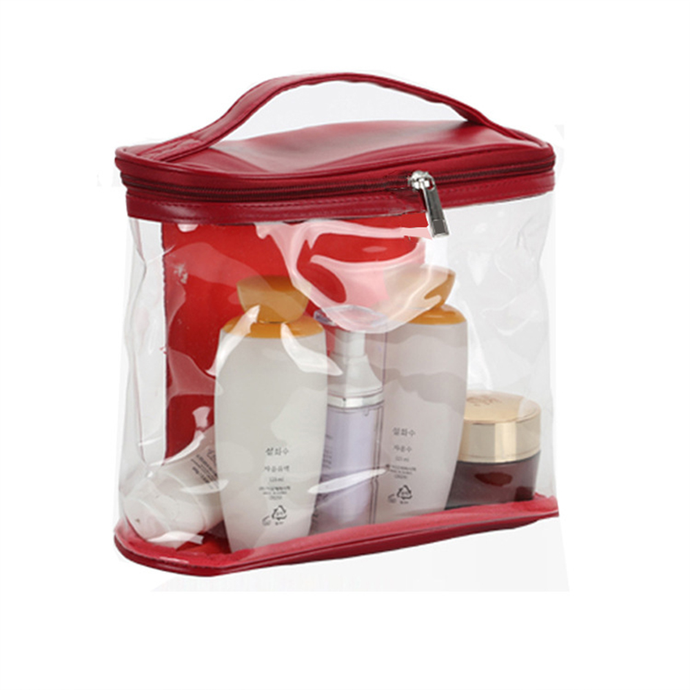 Men Women Transparent High Capacity Makeup Bag with Compartments for Travel Organize