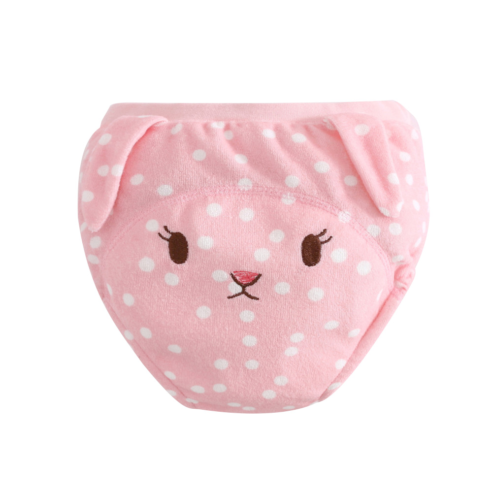 Baby Kids Cute Cartoon Training Pants Briefs Washable Cloth Diaper Nappy Underwear - Soft, Breathable & Leakproof