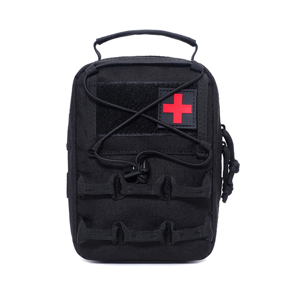 First Aid Bag Camping Pouch EMT Emergency Survival Kit Outdoor Multi-function Large Size Package Black