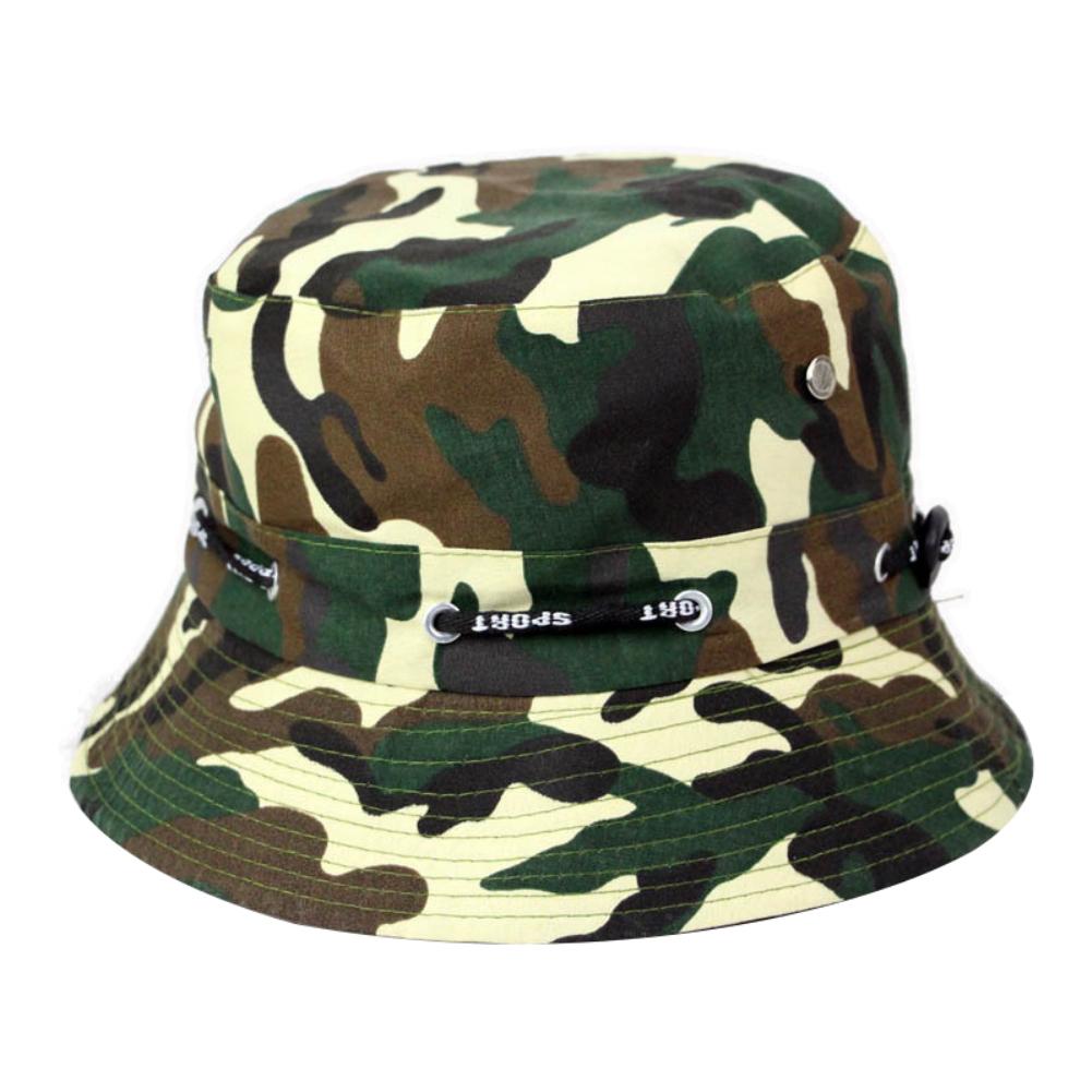Bucket Hats Men Outdoor Fisherman Hat Cotton Fishing Cap Camouflage Bucket Caps Light brown_adjustable