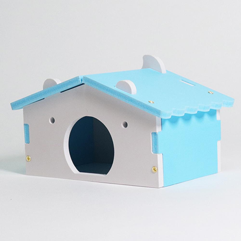 Hamster Sleeping Nest Wooden House Small Golden Bear Rat Mouse Hut Pet Cave