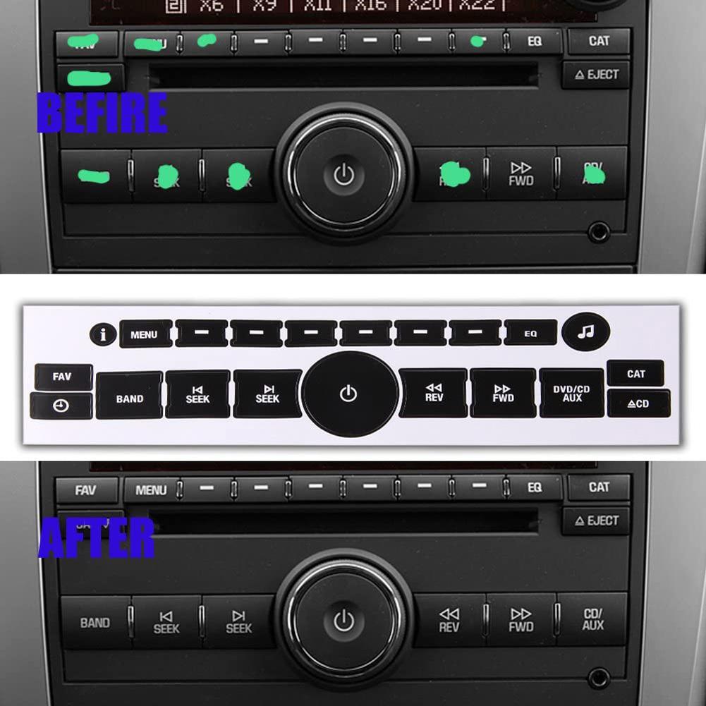 2pcs AC Dash Button Sticker Auto Button AC Central Control Repair Stickers 20 keys