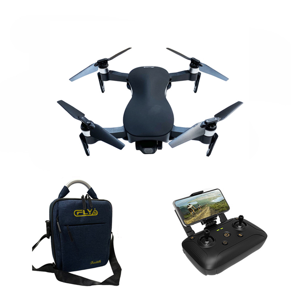 C-FLY Faith 5G WIFI 1.2KM FPV GPS with 4K HD Camera 3-Axis Stable Gimbal 25 Mins Flight Time RC Drone Quadcopter RTF VS X12 4K black_With bag