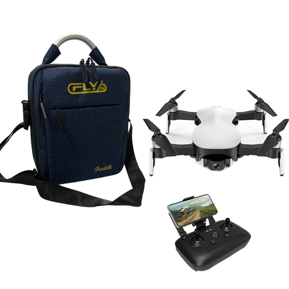 C-FLY Faith 5G WIFI 1.2KM FPV GPS with 4K HD Camera 3-Axis Stable Gimbal 25 Mins Flight Time RC Drone Quadcopter RTF VS X12 4K white_With bag