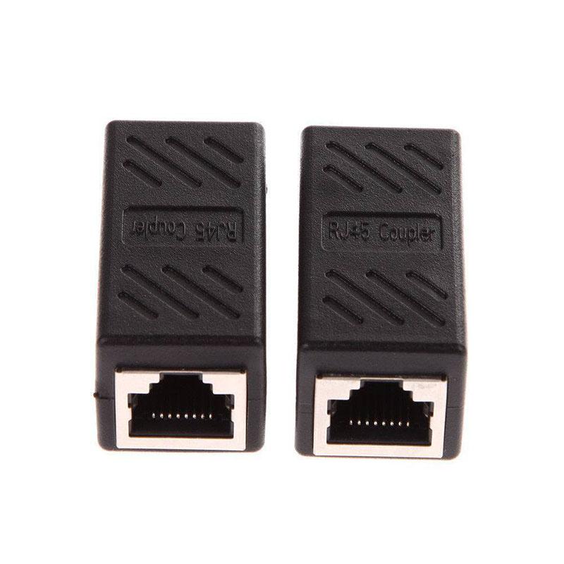 1Pc/2Pcs CAT6 Network Ethernet RJ45 Female – Female LAN Connector Network Adapter Coupler