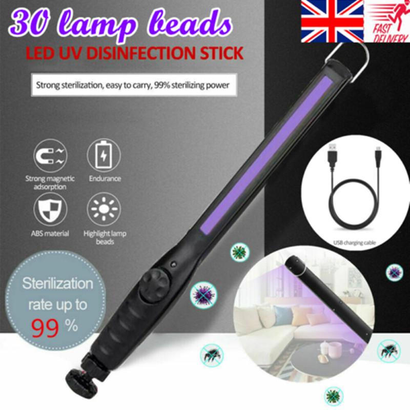 Portable LED UV Germicidal Lamp Disinfection Hand-held Home Sterilization Light 30LED