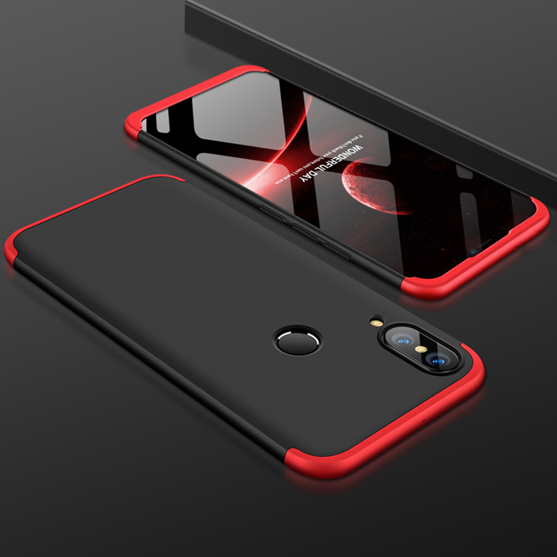 For HUAWEI NOVA 3 3 in 1 360 Degree Non-slip Shockproof Full Protective Case Red black red