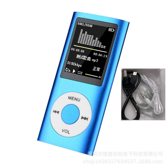 Music Player Radio HIFI Mp3 Player Digital LCD Screen Voice Recording FM Player blue