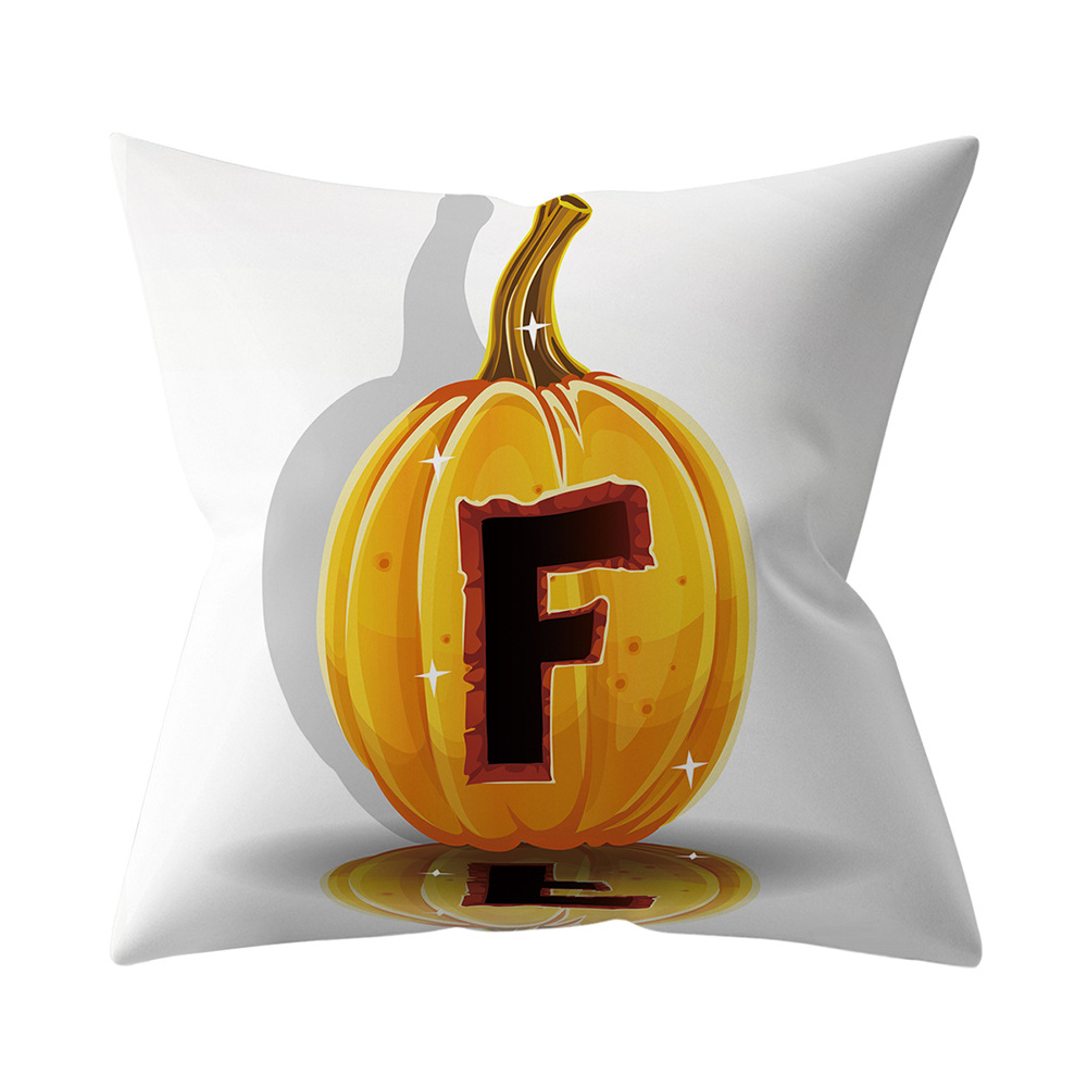 Halloween Series Letter Printing Throw Pillow Cover for Home Living Room Sofa Decor F_45*45cm