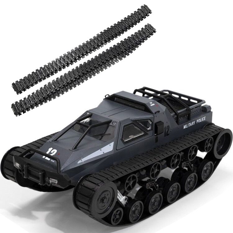 SG 1203 World of RC Tank Car 2.4G 1:12 High Speed Full Proportional Control Vehicle Models Wading Depth With Gull-wing Door Metal Crawler gray_Single battery