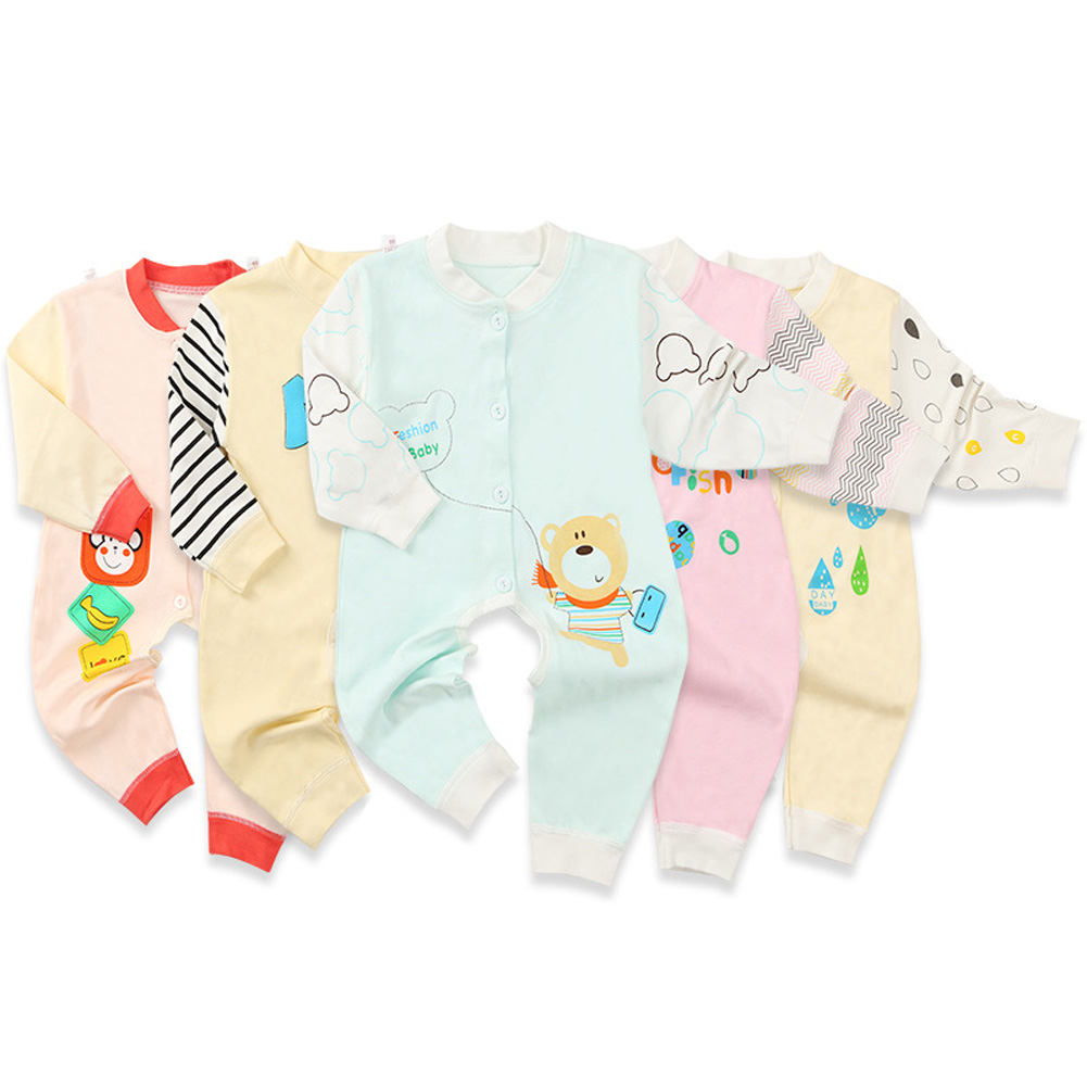 Baby's  Jumpsuits Cotton Long-sleeve Romper for 0-9 Month Babies random_73CM