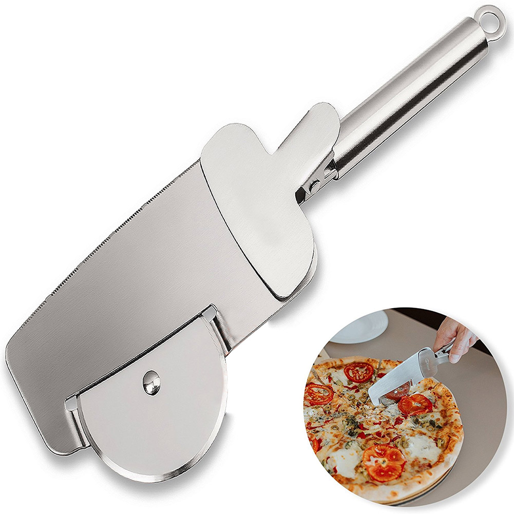Stainless Steel Pizza Cutter Round Wheel Roller Cake Slicer Kitchen Tools Stainless steel