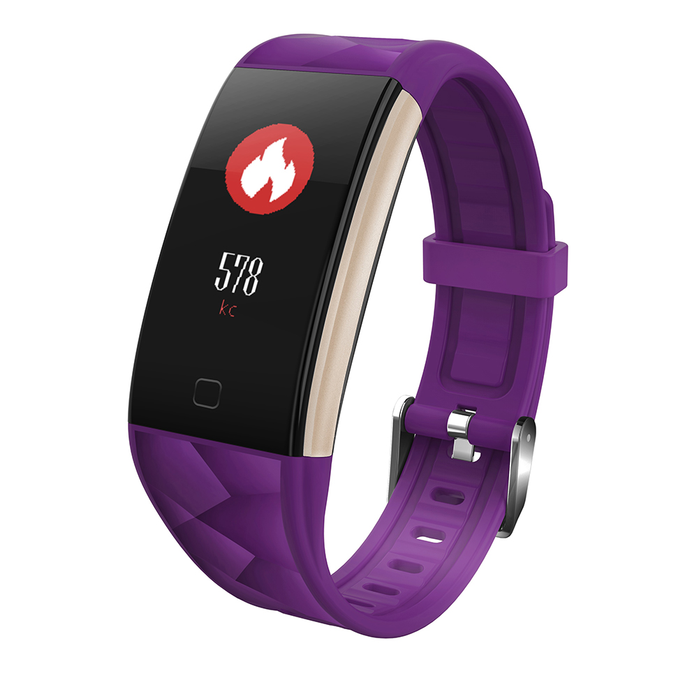 T20 Smart Watch Bracelet Waterproof Colorful Screen Heart Rate Blood Pressure Purple