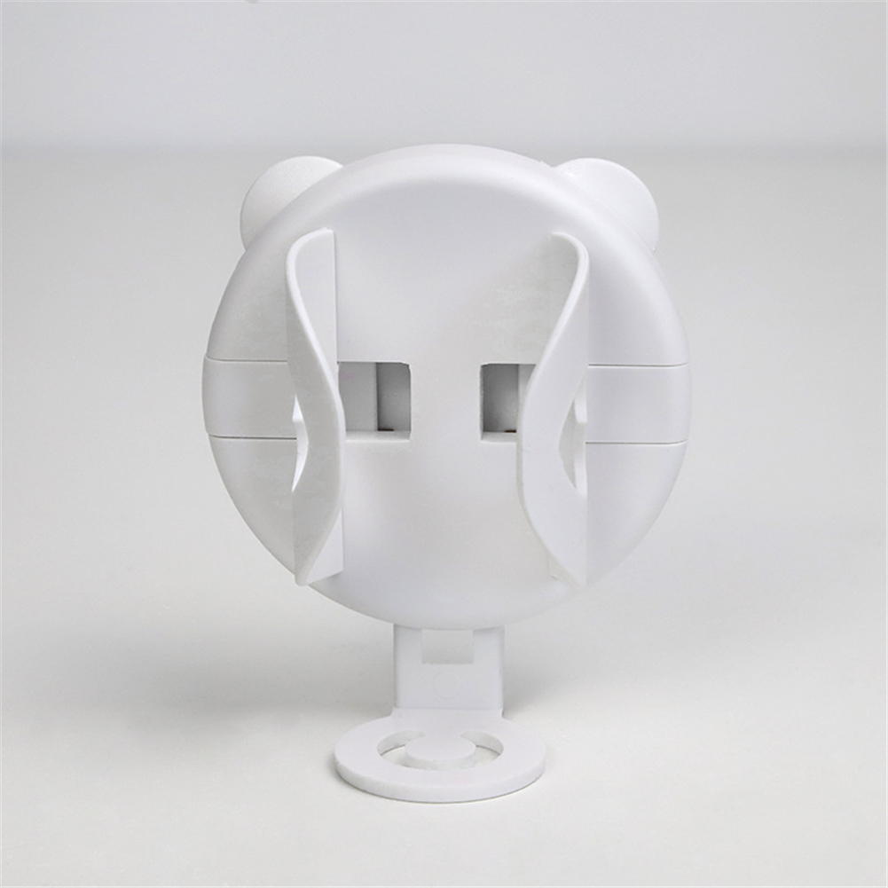 Electric Toothbrush  Holder Retractable Adjustable Nail-free Toothbrush Storage  Rack White round_8.5*7*4cm