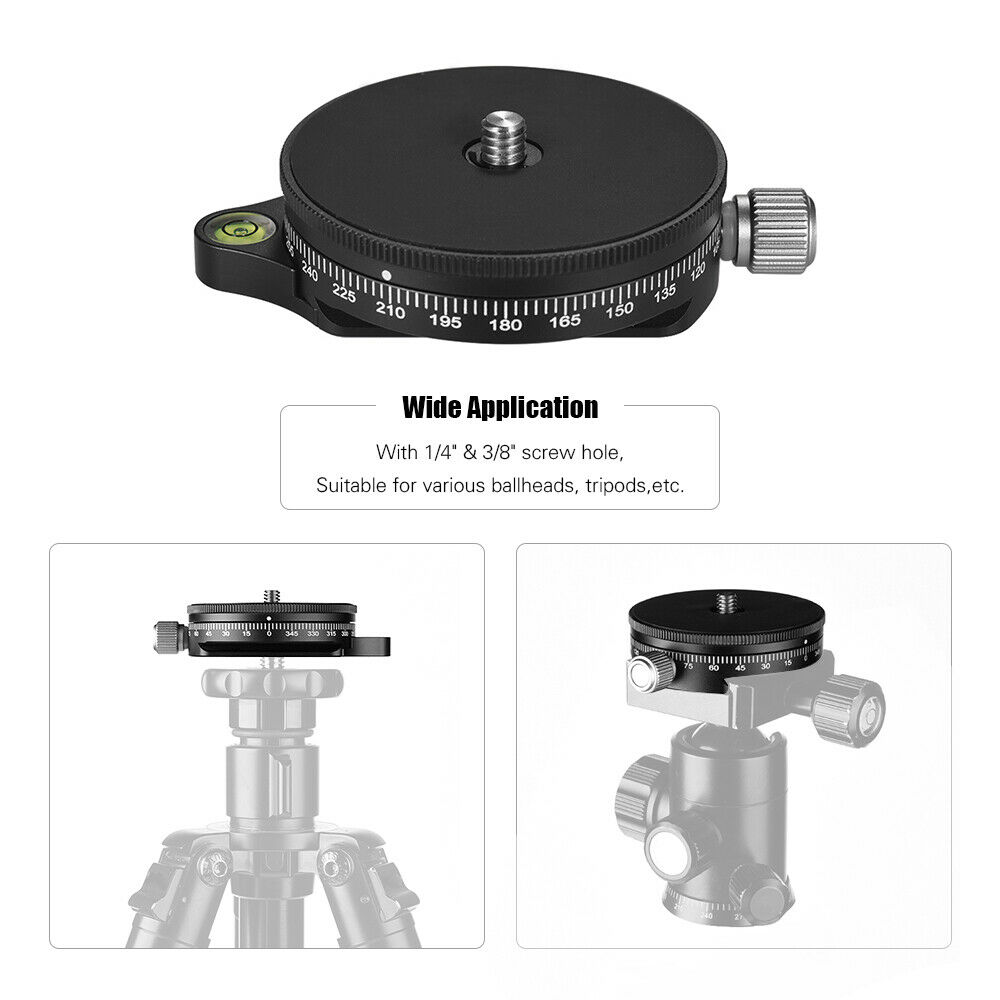 TPC60 360° Panoramic Camera Ballhead Tripod Head for Tripods Monopods DSLR Camera black