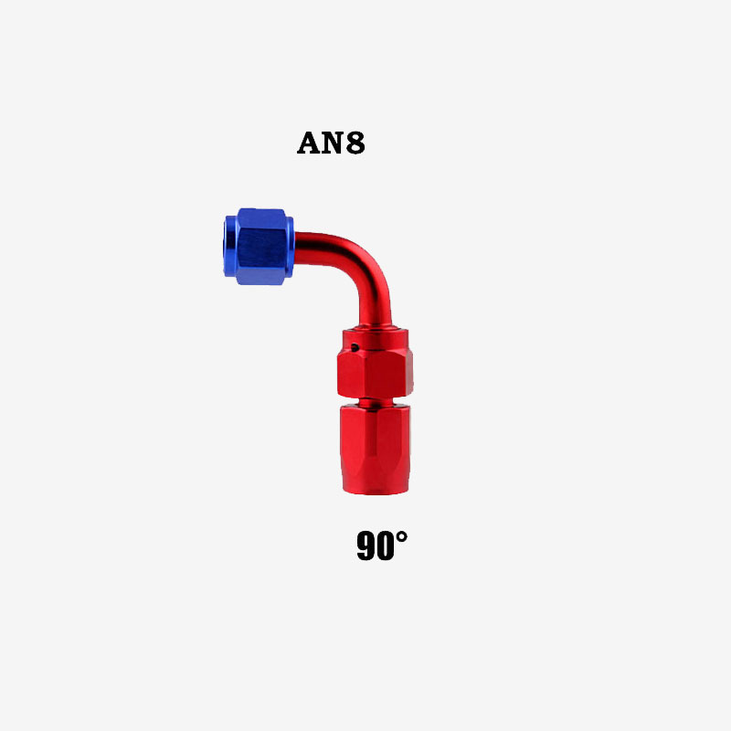 Professional AN8 Swivel Hose End Fitting Adapter for Oil/Fuel/Gas Hose Line 90 degrees