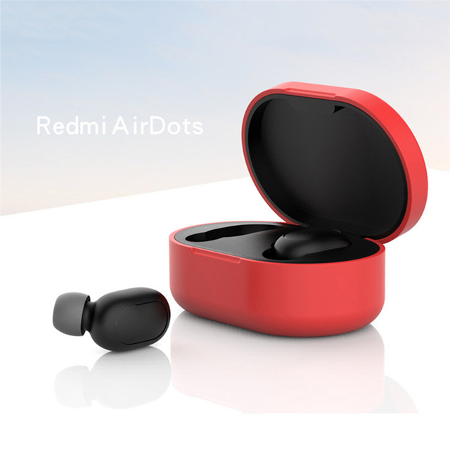 Silicone Protective Cover Earphone Case for Xiaomi Redmi Airdot TWS Bluetooth Earphone Fashion Version Wireless red
