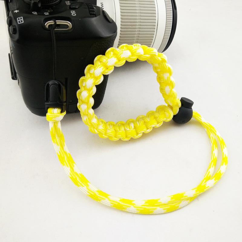 Fashion Braided Digital Camera Strap Camera Wrist Strap Hand Grip Wristband for Nikon Canon Sony Pentax Panasonic  yellow