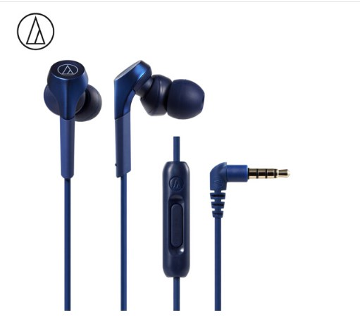 Original Audio Technica ATH-CKS550XIS Wired Earphone HiFi In-ear Subwoofer Bass HiFi Music Wired Control With Microphone Blue