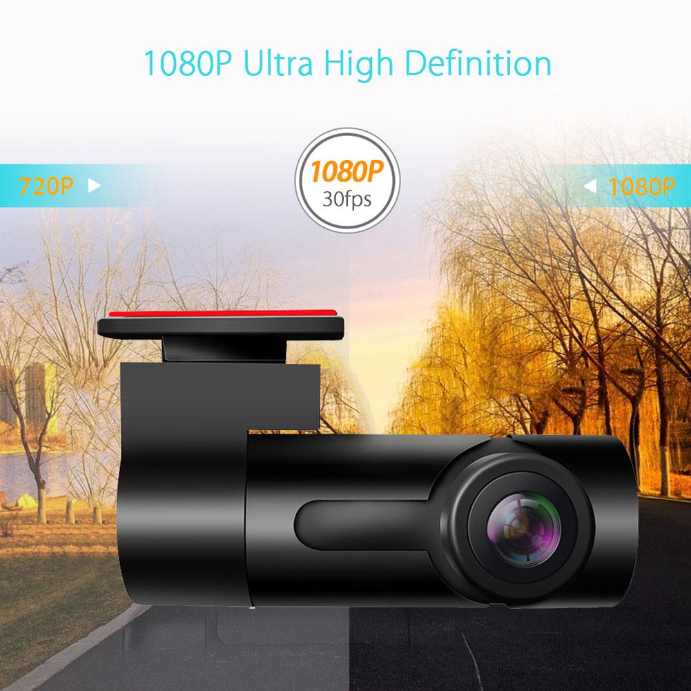 Dash Cam Car DVR Camera Recorder Dash Camera Recorder Car Radio USB Support TF Card Motion Detection black