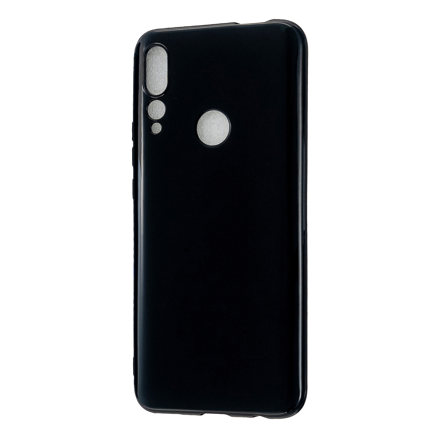 For HUAWEI Y9/Y9 Prime 2019 Cellphone Shell Glossy TPU Case Soft Mobile Phone Cover Full Body Protection Bright black