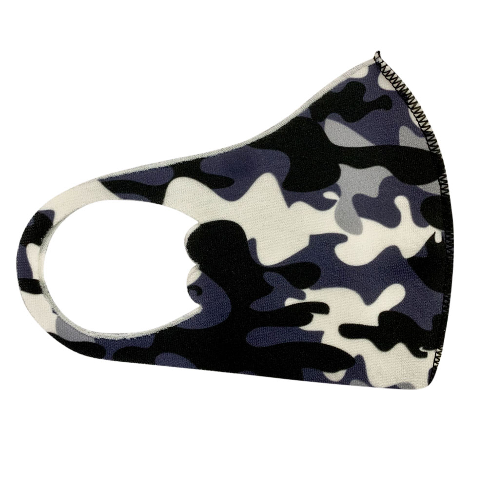 Children's Mask Dust Proof and Washable Hanging Ear Type Camouflage Masks Camouflage Purple_Fine packaging