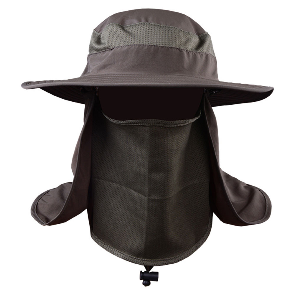 UV Protection Face Neck Flap Sun Fishing Hat Mask Headband Fishing Equipment  Army color