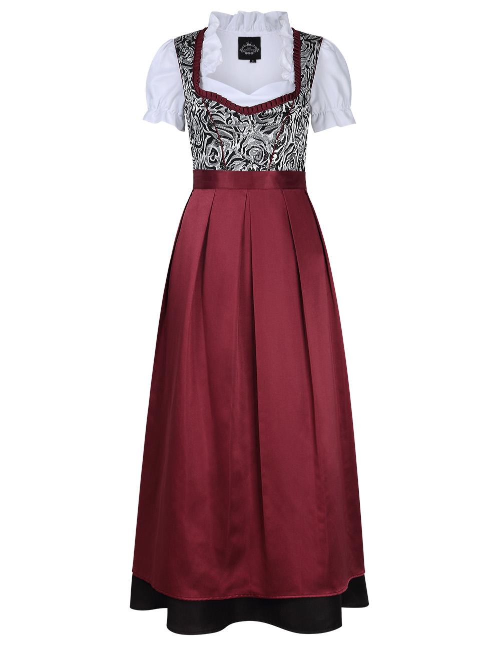 [EU Direct] Women's German Traditional Oktoberfest Costumes Classic Dress Three Pieces Suit