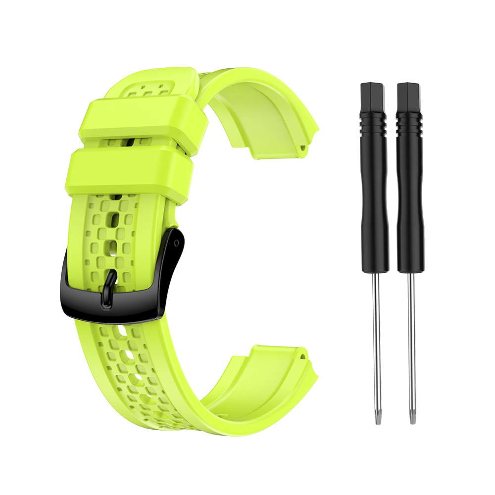 Women's Silicone Wristband Large Size Replacement Wristband for Garmin Forerunner 25 green