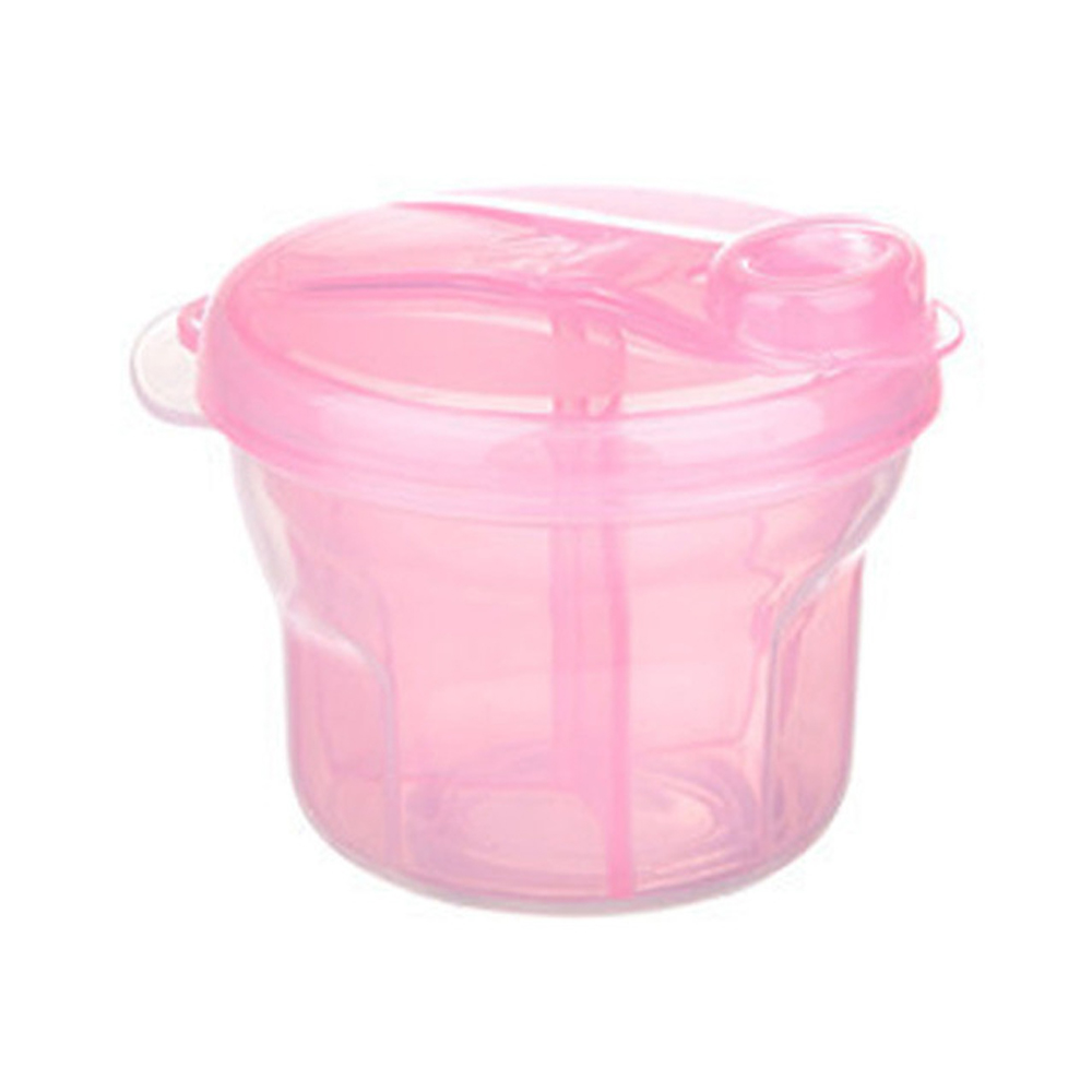 SIMU Multi-functional 3 Layers Rotating Milk Powder Box Pink