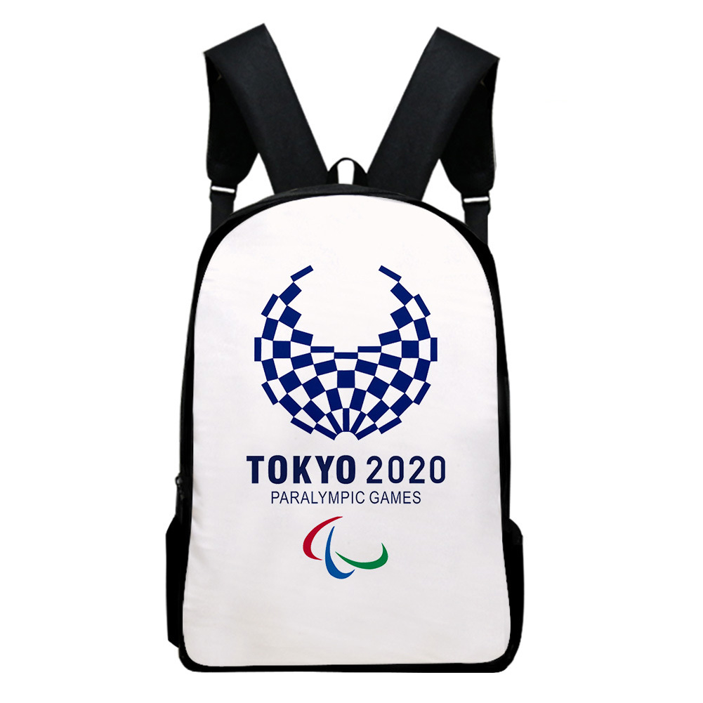 Sports Backpack Man Woman Shoulders Bag 2020 Tokyo Olympics Print Casual Bags H_Free size