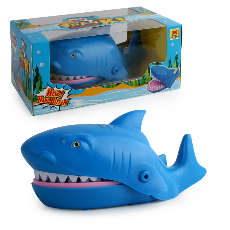 Joke Electric Biting Shark Bite Finger Selachimorpha Bar Game Kids Children Funny Gags Educational Toy Gift Biting shark
