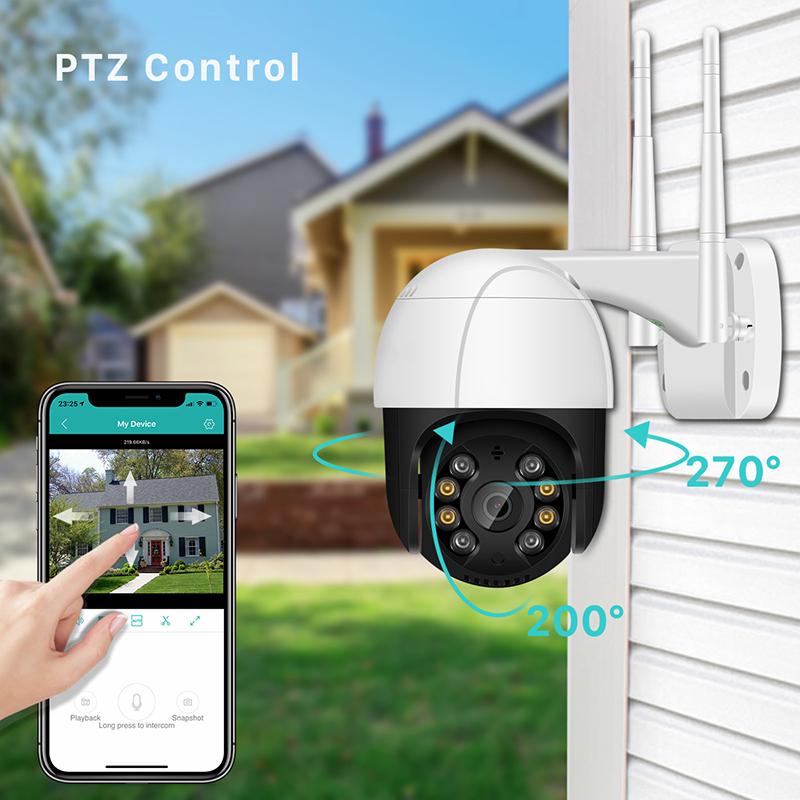 2-inch Ptz Dome Camera Wireless Wifi Network Surveillance Camera Security Camera 1080P EU Plug