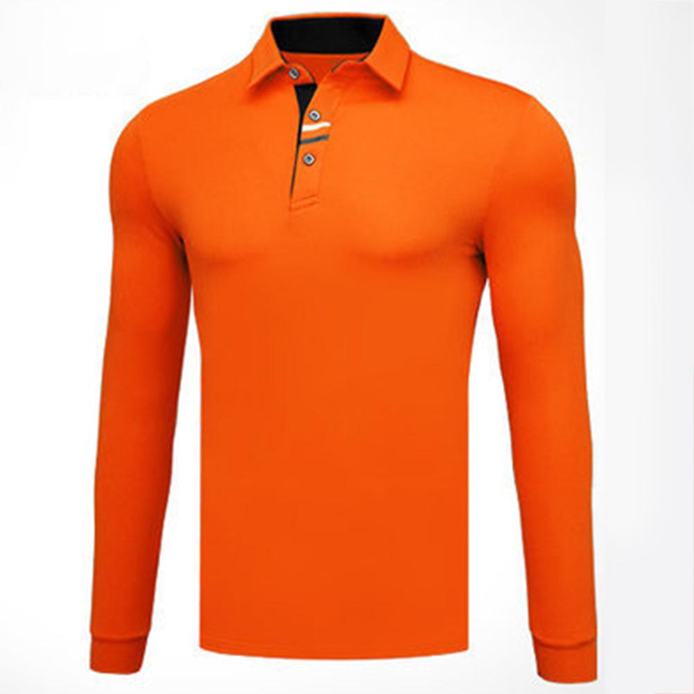 Golf Clothes Male Long Sleeve T-shirt Autumn Winter Clothes YF095 orange_L