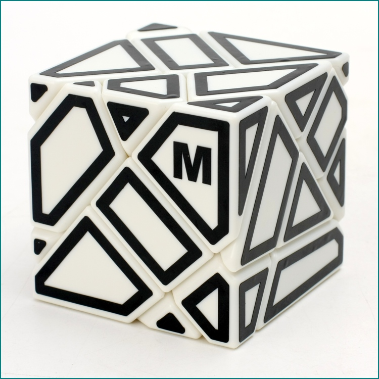 [US Direct] 3*3*3 Hollow Out Sticker Magic Cube Smooth Abnormity Cube Educational Toy white