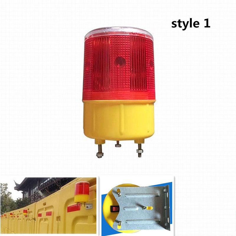 Solar Powered Traffic Warning Light LED Bulb Lamp for Construction Site Harbor Road Emergency Lighting Model 1