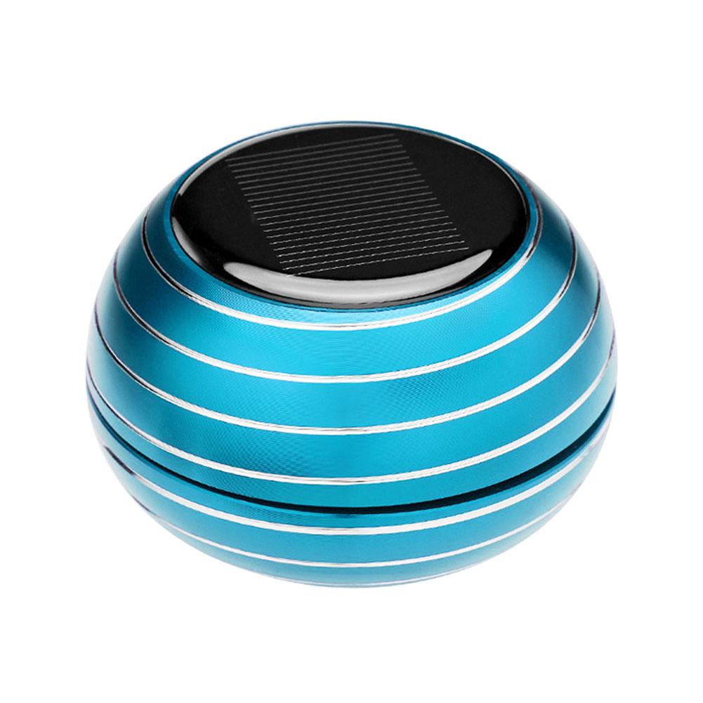 Solar Power Rotating Car Air Freshener Fragrance Dispenser Aromatherapy Diffuser Car Interior Ornament  Blue 7237