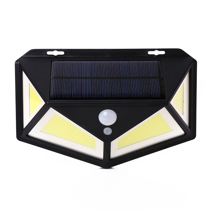 76COB LED Four-Sided Solar Light Motion Sensor Wall Lamp for Outdoor Yard Garden White light_76COB single pack