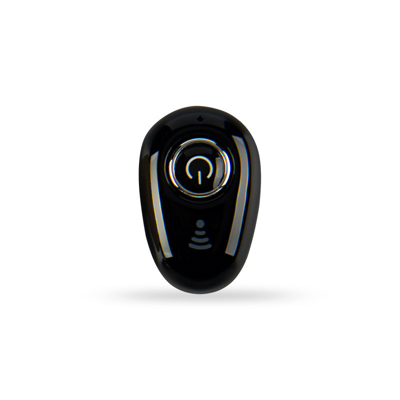 S650 Bluetooth Headset Mini Wireless In-ear Invisible Earbuds Handsfree Headset Stereo with Mic for All Smart Phone black