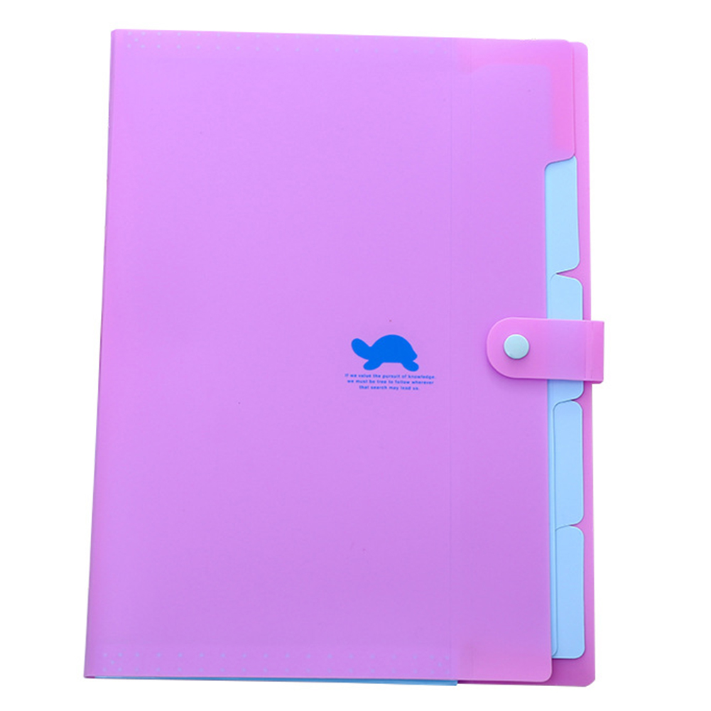 Office Plastic Folders Multi Pocket Organizer A4 File Expansion Document Folder (Random Color) Random Color