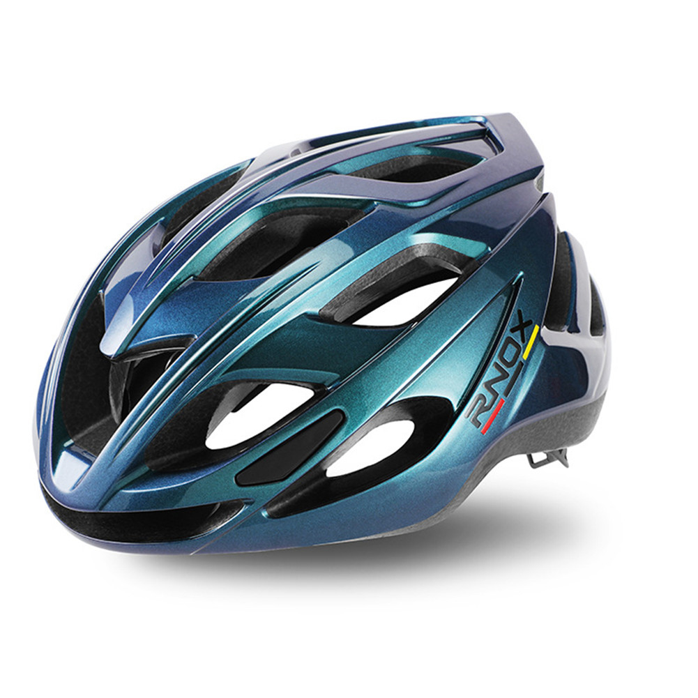 Aerodynamics Helmet Ultralight Unisex Integrated Bicycle Helmet Road Racing Cycling Safety Bike Helmet Riding Equipment Colorful cyan_One size