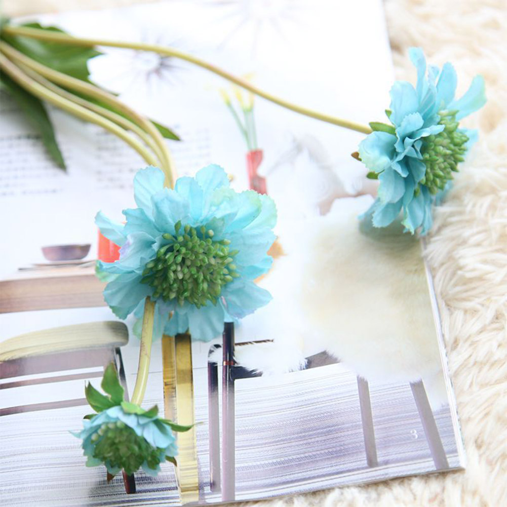 1PC 4Heads Artificial Windmill Orchid Flower Wedding Car Home Decoration