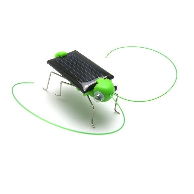 Children Funny Grasshopper Model Solar Power Toys Kids  Educational Toys 4*1.8 cm Energy Cricket Christmas Gift Toys Fash