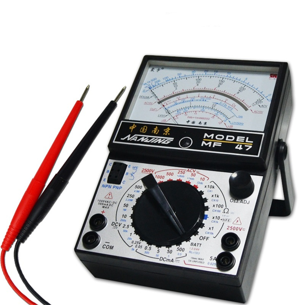 Portable Mechanical Pointer  Type  Multimeter Mf47 Tester Ac / Dc Ammeter Standard