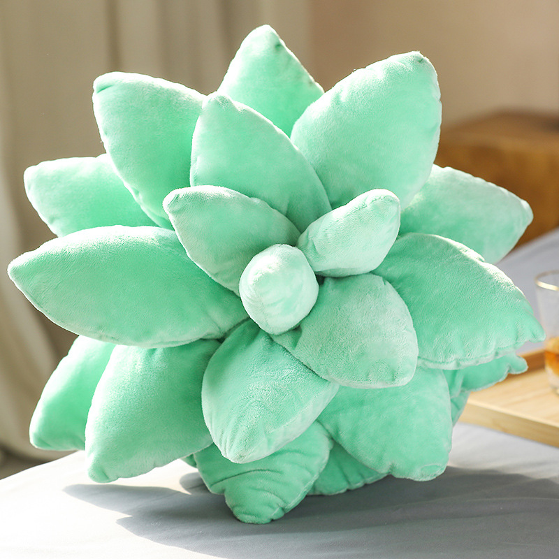 PP Cotton Artificial Plant Succulent  Pillow Household Decorative Ornaments Light green Succulent
