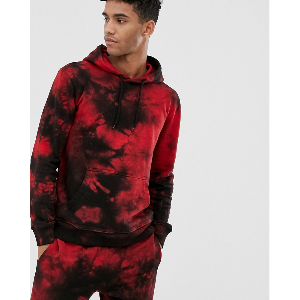 3D Digital Hoodie Leisure Sweater Floral Printed Gradient Color Top Pullover for Man H511 Top_L