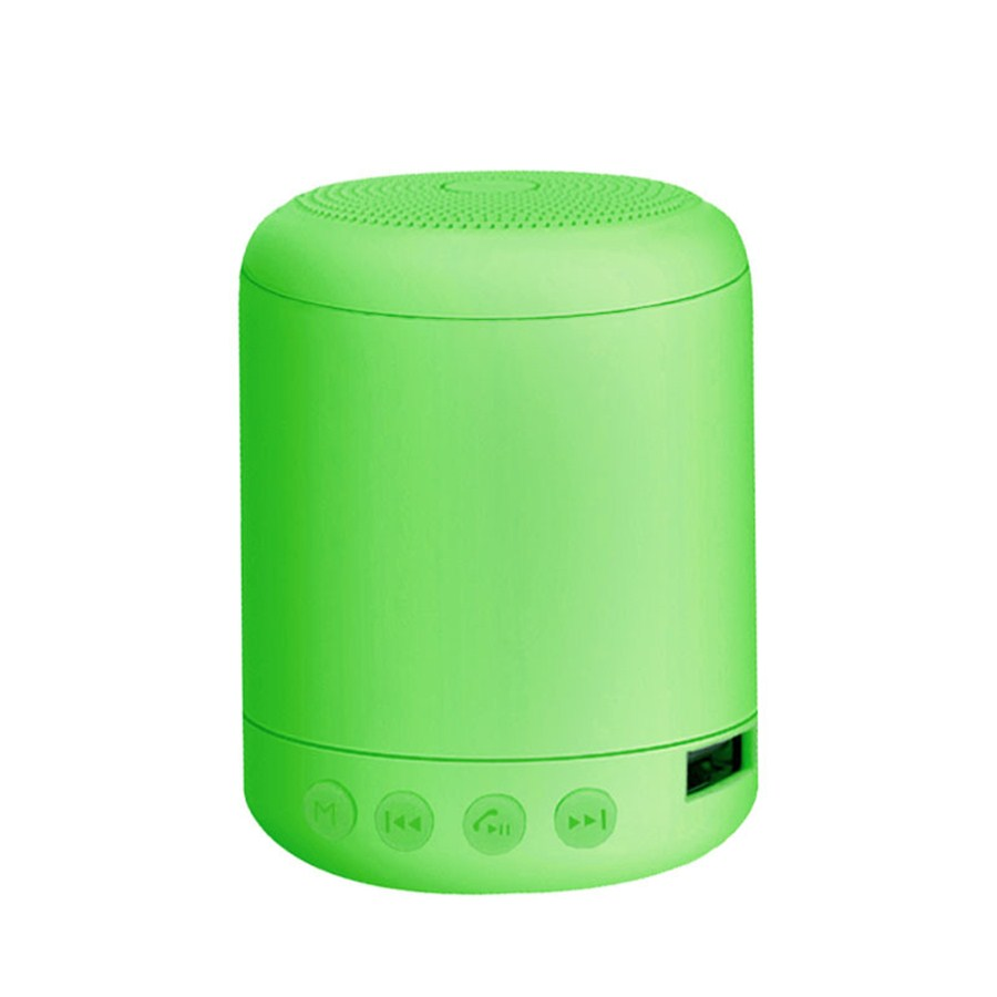 Portable Speaker Bluetooth4.2 Mini Wireless Speaker Small Sound Box Built-in 400mA Battery Support 32GB TF Card Hands-free Calling Fresh Bright Color  Green