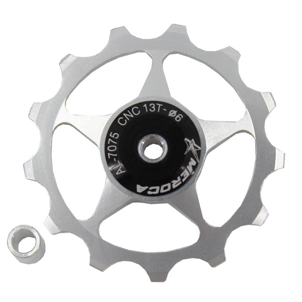 11T/13T Aluminum Alloy MTB Mountain Bike Bicycle Rear Derailleur Pulley Jockey Wheel Road Bike Guide Roller For 7/8/9/10 Speed 13T silver