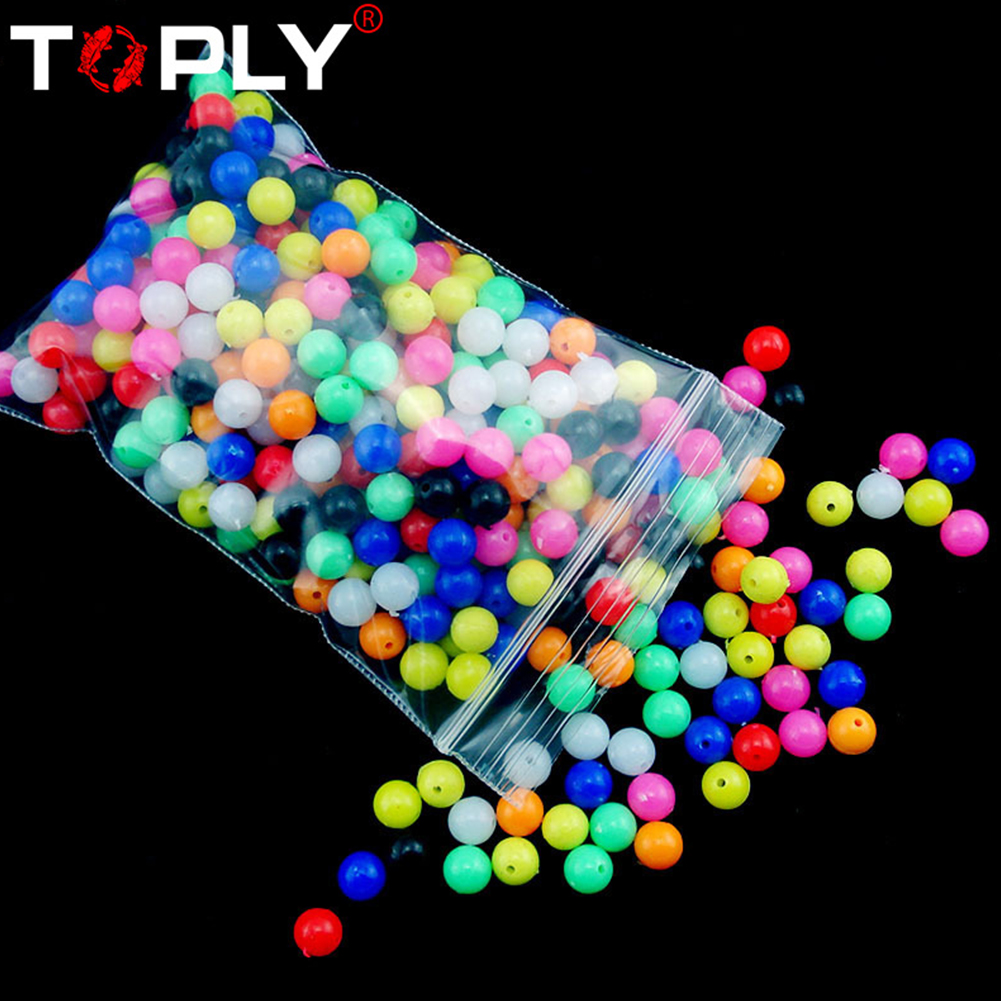 100pcs Multiple Color Mixed Fishing Rigging Plastic Beads Stops for Lure Spinners Sabiki DIY 6mm 8mm 8mm
