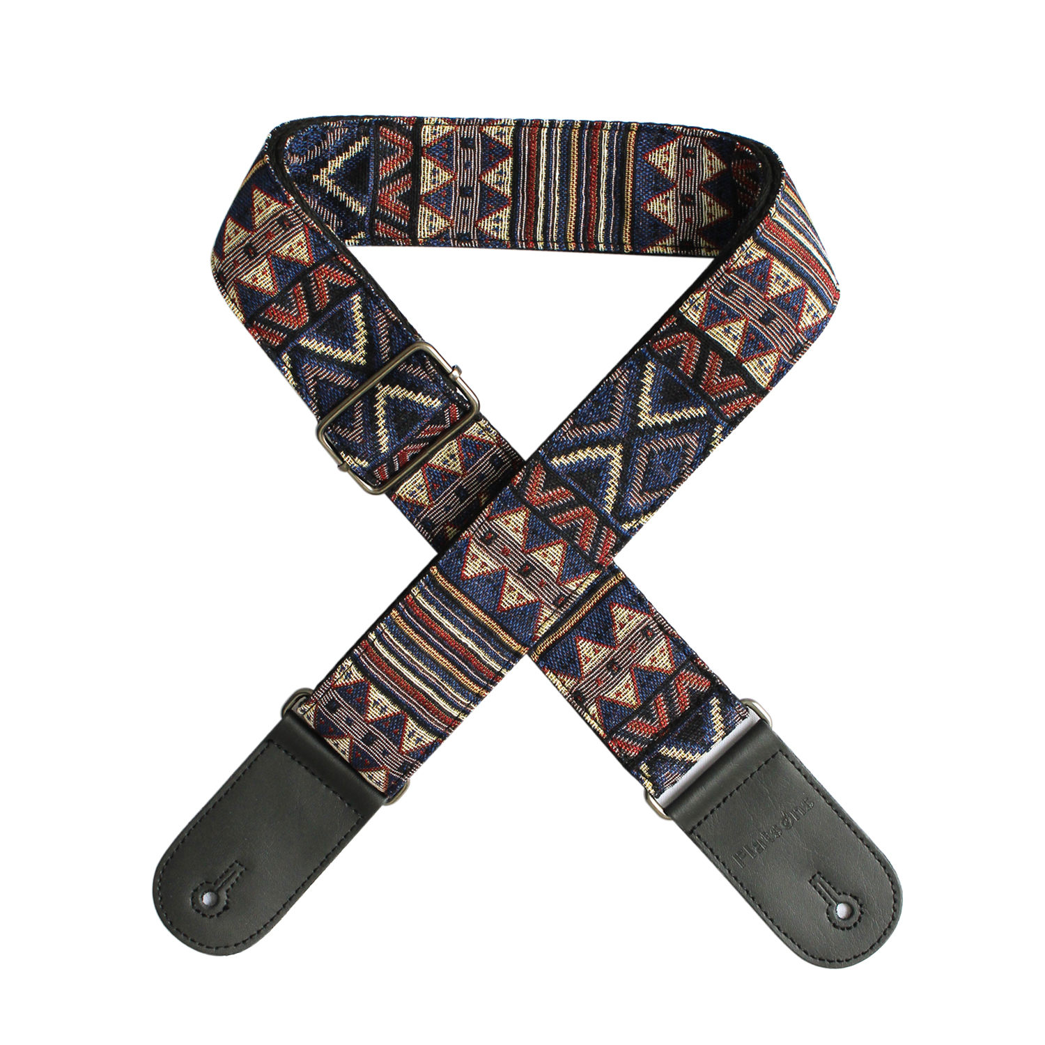 Flanger Vintage National Style Acoustic Electric Guitar Strap Jacquard Embroidery Strap F-S3